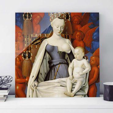 Quadro in vetro - Jean Fouquet - Madonna and Child - Quadrato 1:1