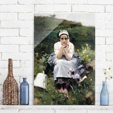 Quadro su vetro - Joaquin Sorolla - The Milkmaid - Verticale 2:3