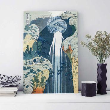 Quadro in vetro - Katsushika Hokusai - The Waterfall of Amida behind the Kiso Road - Verticale 2:3