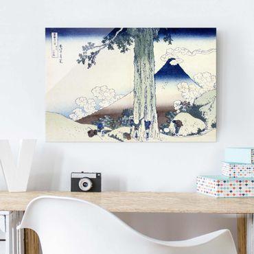 Quadro in vetro - Katsushika Hokusai - Mishima Pass in Kai Province - Orizzontale 3:2