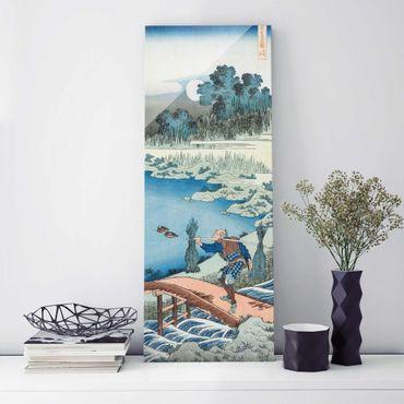 Quadro in vetro - Katsushika Hokusai - Rice carriers (Tokusagari) - Pannello