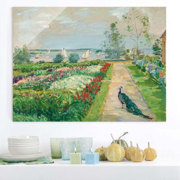 Quadro in vetro - Max Slevogt - Flower Garden in New-Cladow - Orizzontale 4:3