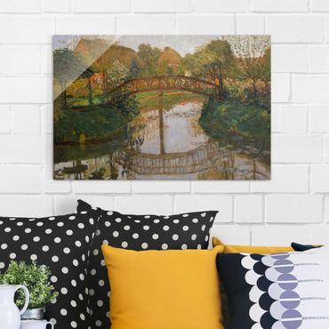 Quadro in vetro - Otto Modersohn - Farm Garden with Bridge - Orizzontale 3:2