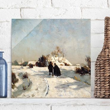 Quadro su vetro - Otto Modersohn - New Year's Day - Quadrato 1:1