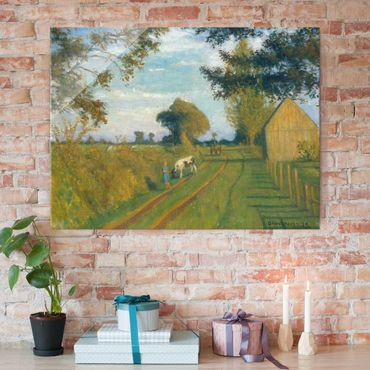 Quadro in vetro - Otto Modersohn - Path in the Evening Sun - Orizzontale 4:3