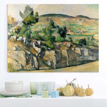Quadro su vetro - Paul Cézanne - Collina in Provenza - Impressionismo - Orizzontale 4:3
