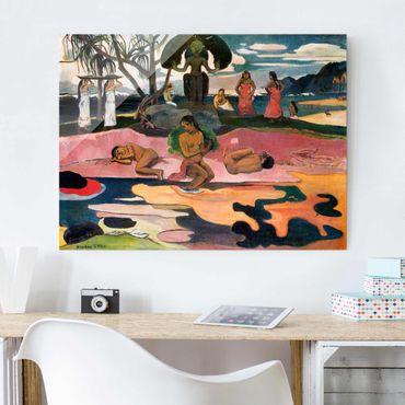 Quadro in vetro - Paul Gauguin - Giorno di dio (Mahana No Atua) - Post-Impressionismo - Orizzontale 4:3