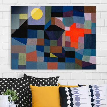 Quadro in vetro - Paul Klee - Fuoco a la Luna piena - Espressionismo - Orizzontale 4:3