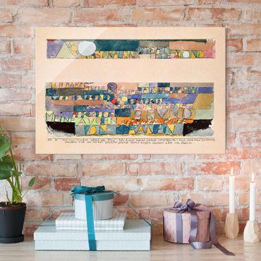 Quadro su vetro - Paul Klee - Alta e luminosa è la Luna ... - Espressionismo - Orizzontale 3:2