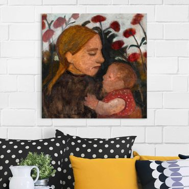 Quadro in vetro - Paula Modersohn-Becker - Girl with Child - Quadrato 1:1