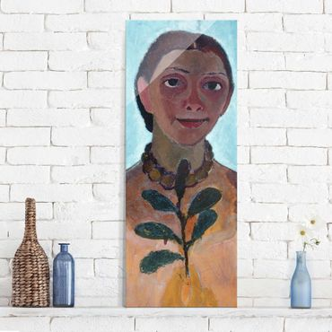 Quadro in vetro - Paula Modersohn-Becker - Self Portrait with Amber Necklace - Verticale 3:4