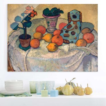Quadro in vetro - Paula Modersohn-Becker - Still life with Oranges and Stoneware Dog - Orizzontale 4:3