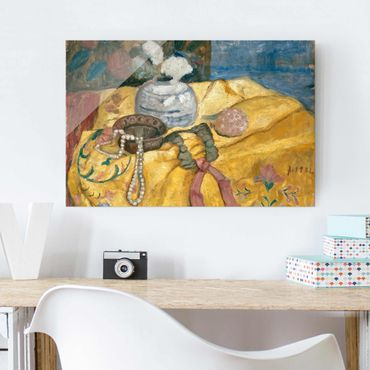 Quadro in vetro - Paula Modersohn-Becker - Still life with Beaded Necklace - Orizzontale 3:2