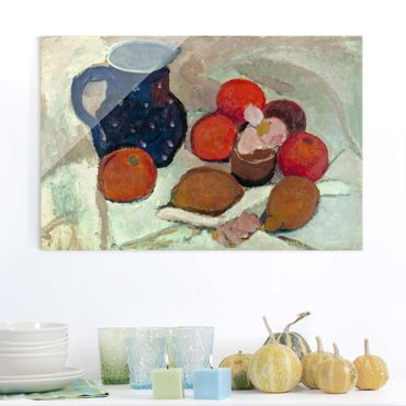 Quadro in vetro - Paula Modersohn-Becker - Still Life with blue Star Pitcher - Orizzontale 3:2