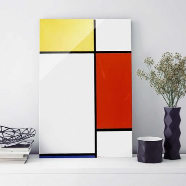 Quadro in vetro - Piet Mondrian - Composition I - Verticale 2:3
