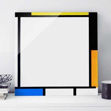 Quadro in vetro - Piet Mondrian - Composition II - Quadrato 1:1