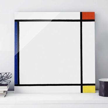 Quadro in vetro - Piet Mondrian - Composition III with Red, Yellow and Blue - Quadrato 1:1