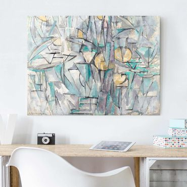 Quadro in vetro - Piet Mondrian - Composition X - Orizzontale 4:3