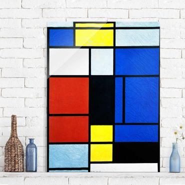 Quadro in vetro - Piet Mondrian - Tableau No. 1 - Verticale 3:4