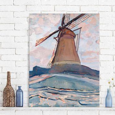 Quadro in vetro - Piet Mondrian - Windmill - Verticale 3:4
