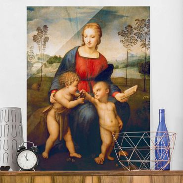Quadro in vetro - Raffael - Madonna of the Goldfinch - Verticale 3:4