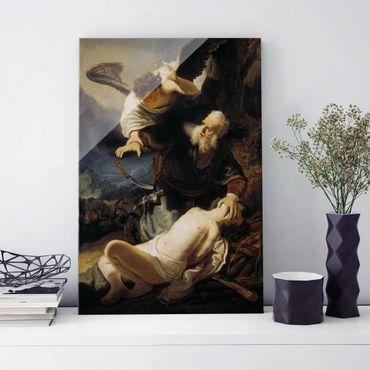 Quadro in vetro - Rembrandt van Rijn - The Angel prevents the Sacrifice of Isaac - Verticale 2:3