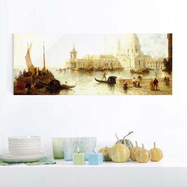 Quadro in vetro - Thomas Moran - Venice II - Panoramico