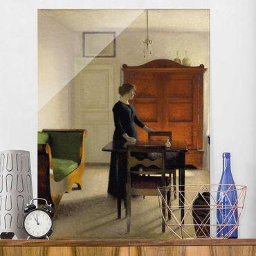 Quadro in vetro - Vilhelm Hammershoi - Ida in an Interior - Verticale 3:4