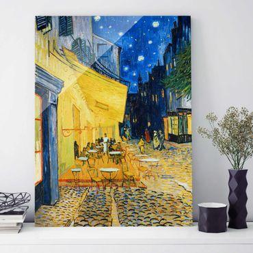 Quadro su vetro - Vincent van Gogh - Terrazza del caffè la sera, Place du Forum, Arles - Post-Impressionismo - Verticale 3:4