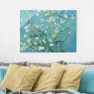 Quadro su vetro - Vincent van Gogh - Mandorlo in Fiore - Post-Impressionismo - Orizzontale 4:3