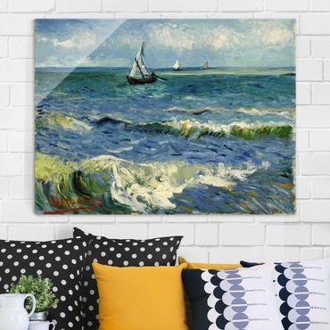 Quadro in vetro - Vincent van Gogh - Paesaggio marino a Saintes-Maries-de-la-Mer - Post-Impressionismo - Orizzontale 4:3
