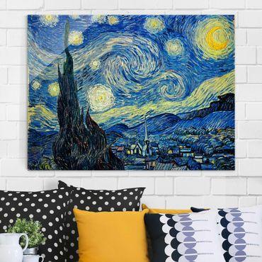 Quadro su vetro - Vincent van Gogh - Notte stellata - Post-Impressionismo - Orizzontale 4:3