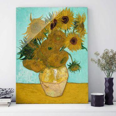 Quadro in vetro - Vincent van Gogh - Vaso con Dodici Girasoli - Post-Impressionismo - Verticale 3:4
