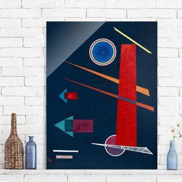 Quadro in vetro - Wassily Kandinsky - Potente Rosso - Espressionismo - Verticale 3:4
