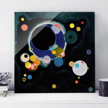 Quadro su vetro - Wassily Kandinsky - Alcuni Cerchi - Espressionismo - Quadrato 1:1