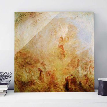Quadro su vetro - William Turner - L'angelo in piedi al Sole - Romanticismo - Quadrato 1:1