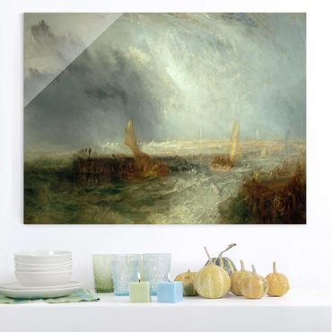 Quadro su vetro - William Turner - Ostend - Romanticismo - Orizzontale 4:3