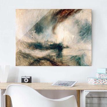Quadro su vetro - William Turner - Tempesta di neve - Romanticismo - Orizzontale 4:3