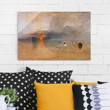 Quadro in vetro - William Turner - Spiaggia di Calais con la bassa marea: pescatrici che raccolgono le esche - Romanticismo - Orizzontale 3:2