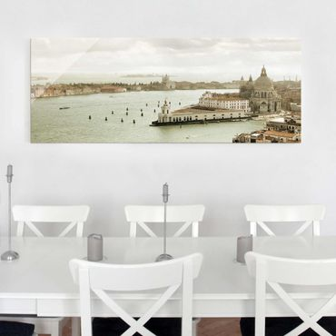 Quadro in vetro - Venetian Lagoon - Panoramico