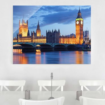 Quadro in vetro - London at Night - Orizzontale 4:3