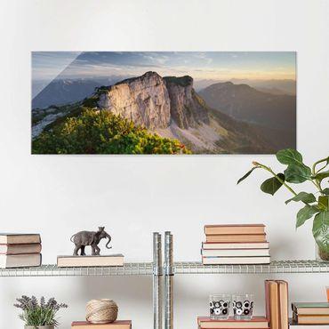 Quadro in vetro - Loser North Wall In Austria - Panoramico