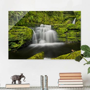 Quadro in vetro - Lower Mclean Falls In New Zealand - Orizzontale 3:2