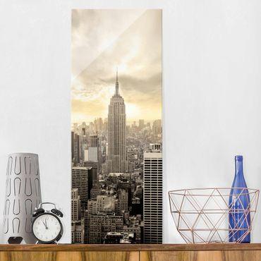 Quadro in vetro - Manhattan Dawn - Pannello