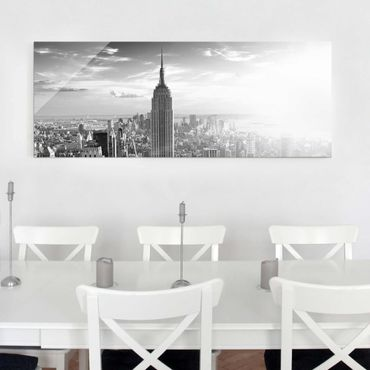 Quadro in vetro - Manhattan Skyline - Panoramico