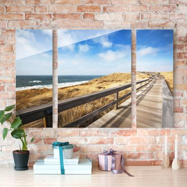 Quadro in vetro - Pathway Through The Dunes - 3 parti