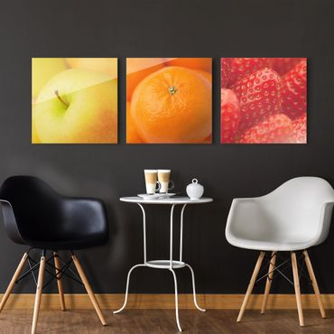 Quadro in vetro - Fresh Fruit - 3 parti