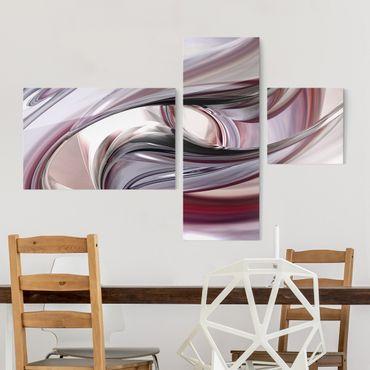 Quadro in vetro - Illusionary - Collage a 3 parti