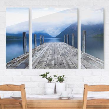Quadri in vetro - Nelson Lakes National Park New Zealand - 3 parti
