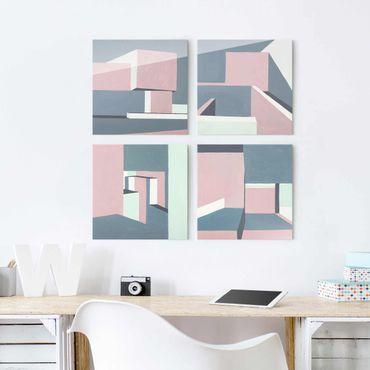 Quadro in vetro - All'ombra delle mura Set II - 4 parti set